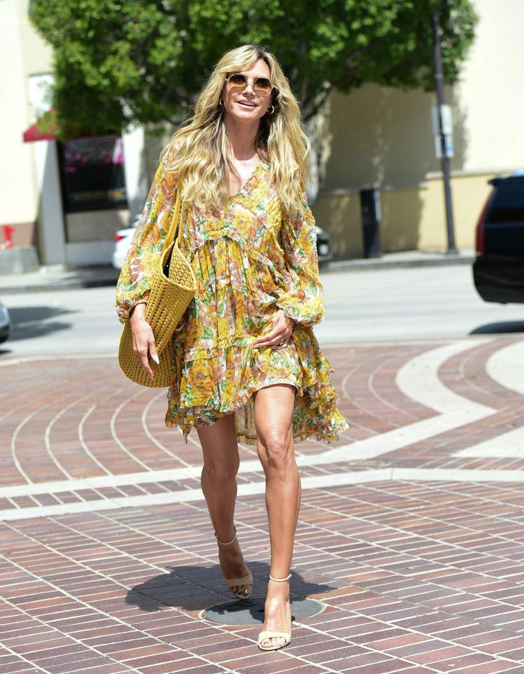 Leggy Heidi Klum Makes A Beautiful Arrival At AGT Taping