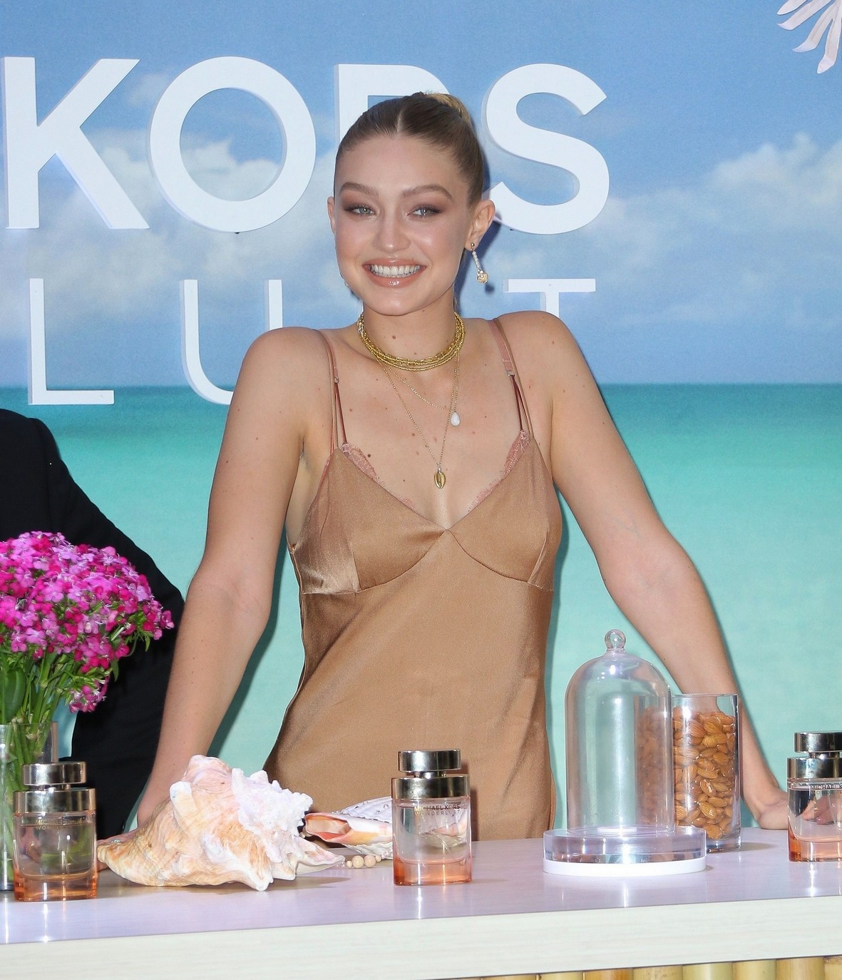 Gigi Hadid Sexy at Michael Kor's Wonderlust Fragrance Campaign launch